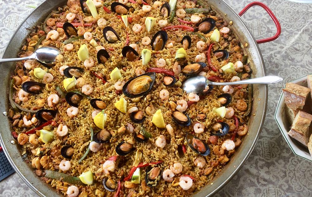 Paella pour 20 personnes